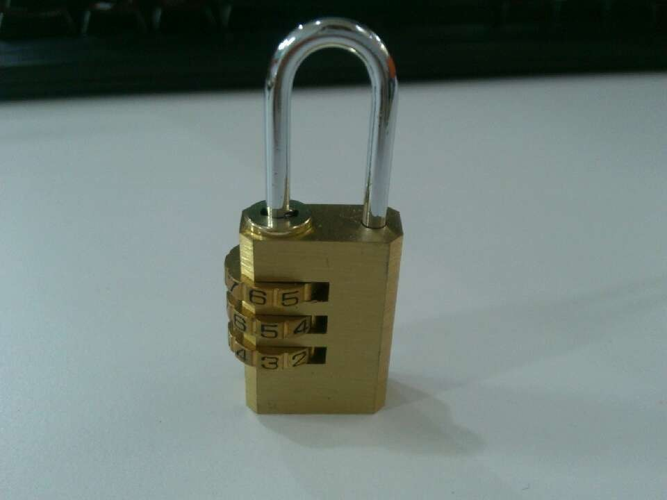 3/4 Digits Brass Combination Padlock (1601 1602) pictures & photos