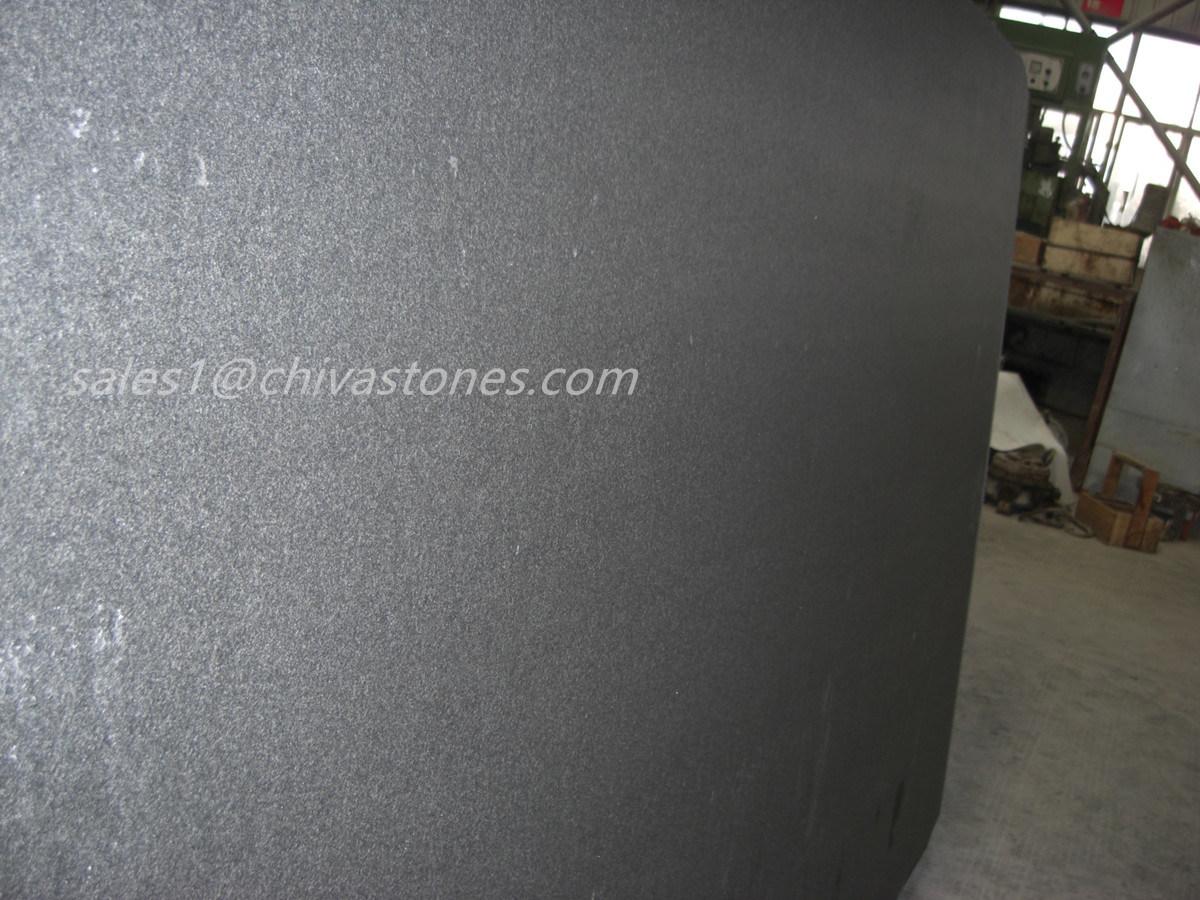 China Chiva Blackabsolute Black Granite Polishedflamedhoned