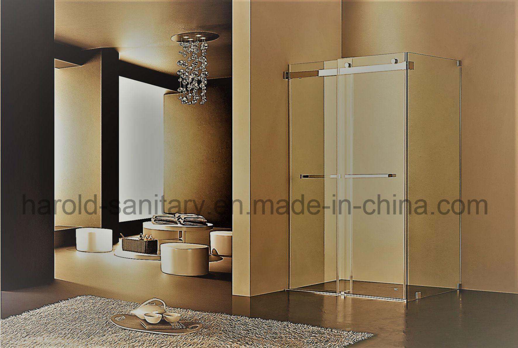 Hot Item Double Sliding Glass Frameless Shower Door