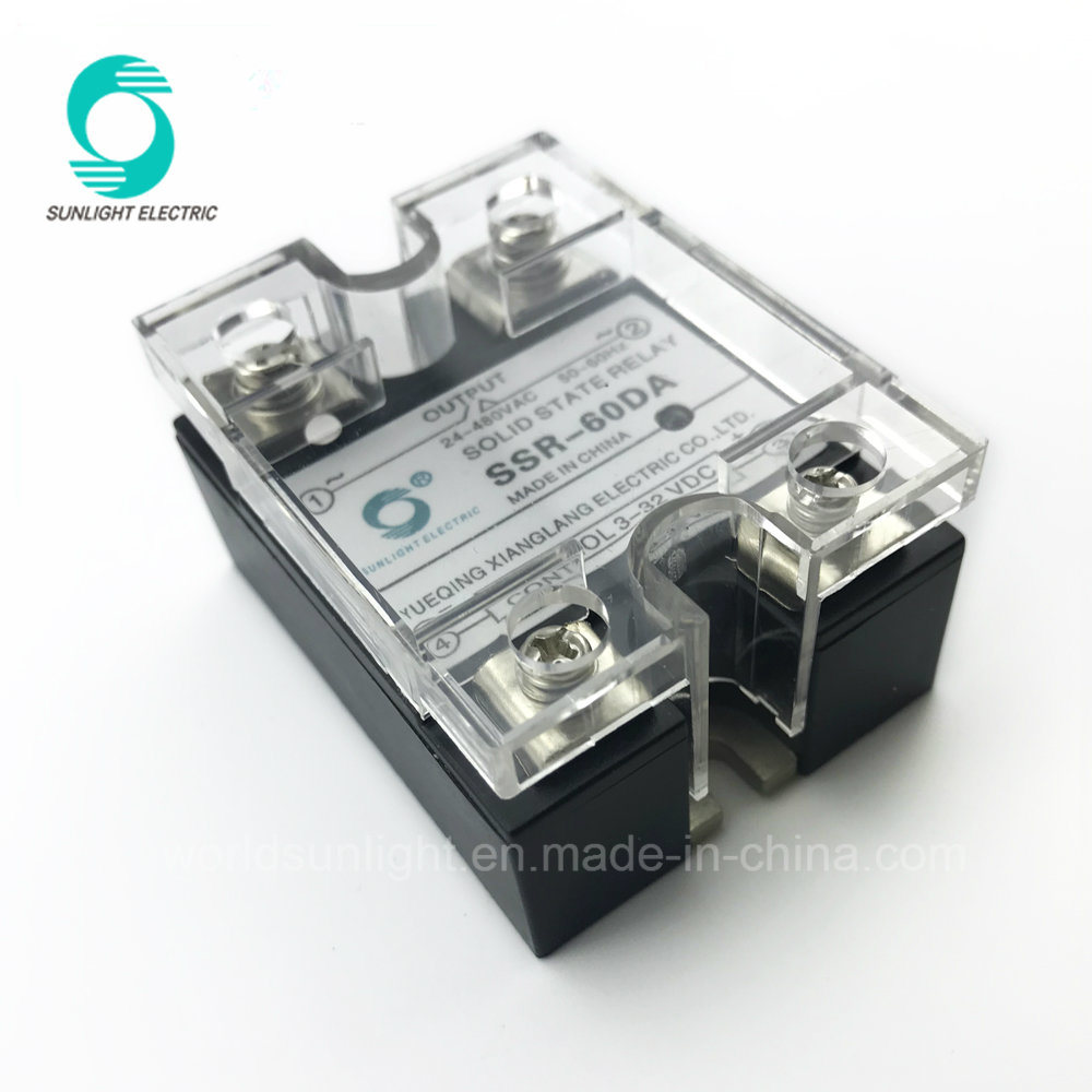 China Ssr 60da General Purpose Dc To Ac Mini Solid State Relay Electronic 60amp 60a