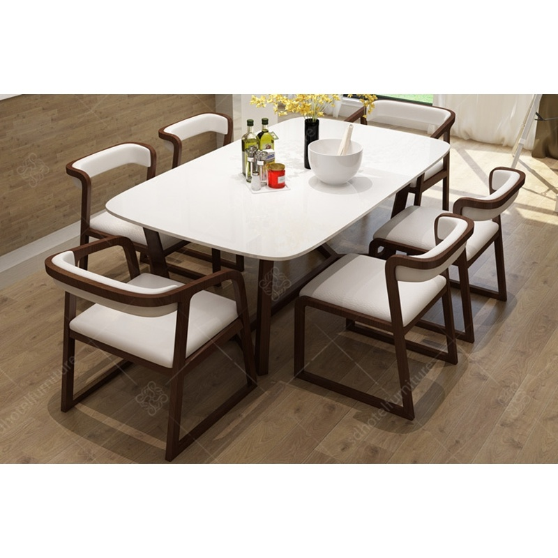 China Simple Style Dining Table Set Furniture For Home Restaurant Hotel