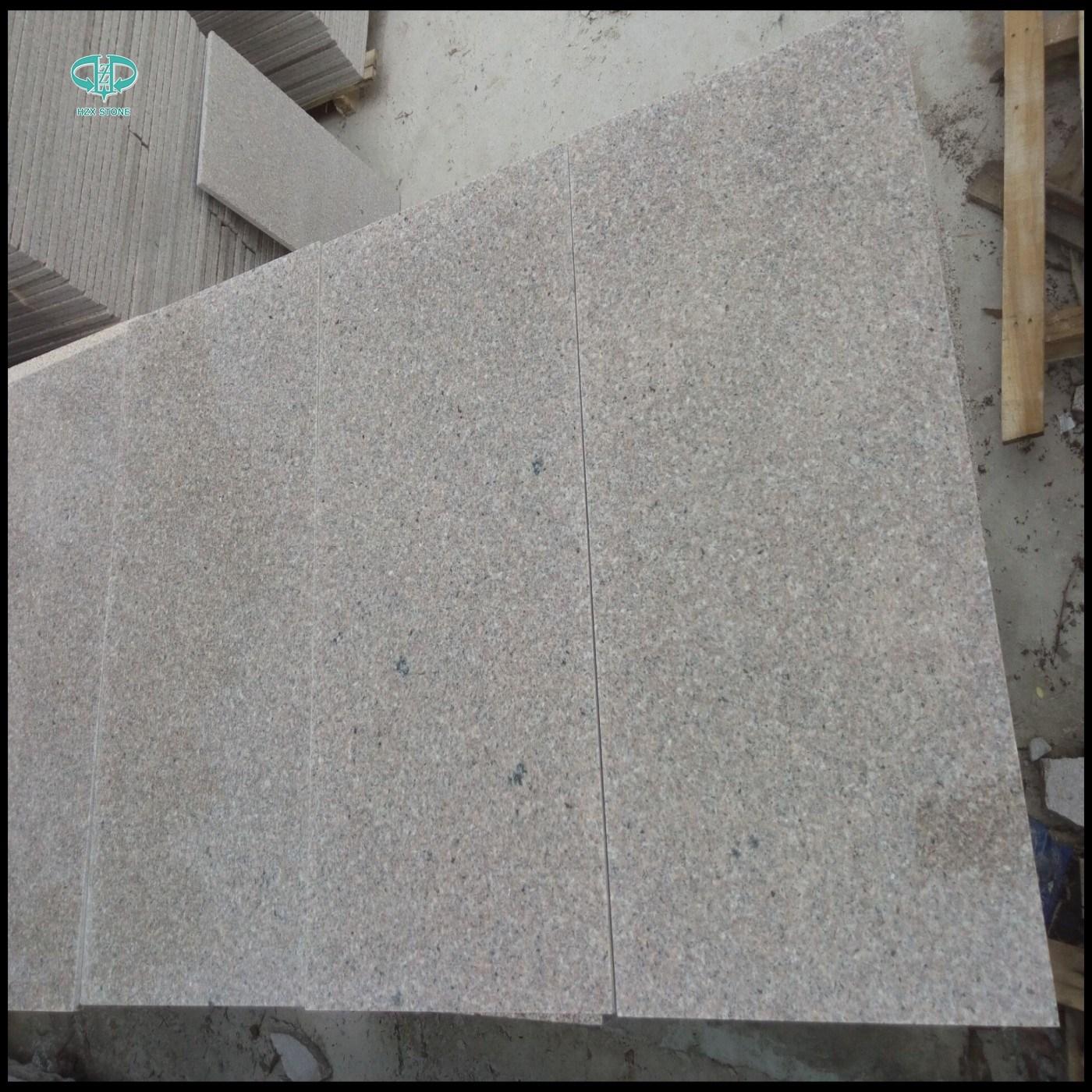 Wholesale G681china Pink Granitepolishedflamedbushhammeredfloor