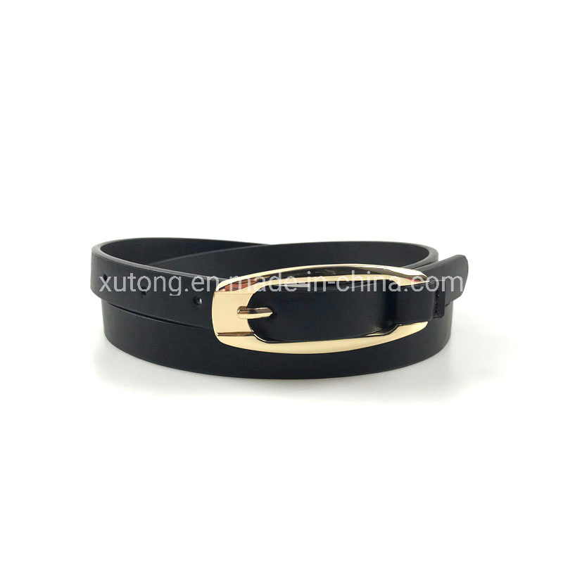 New Design Women′s PU Belt Ladies Leather Thin Waist Belts pictures & photos
