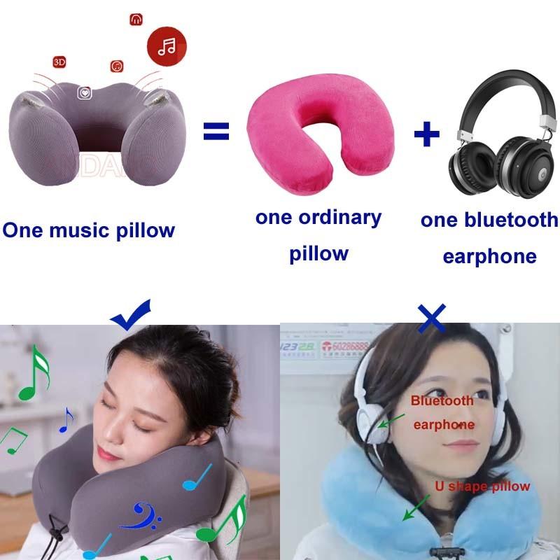 Flight Pillow Natural Latex Massage Memory Pillow Soft U Shape Car Neck Pillows