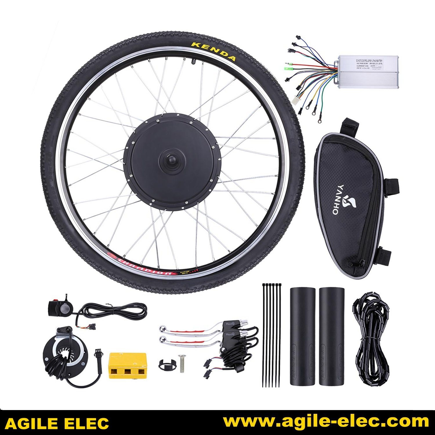 Electric Bike Kit Thumb Throttle Speed Control Ebike Scooter 3 Wires