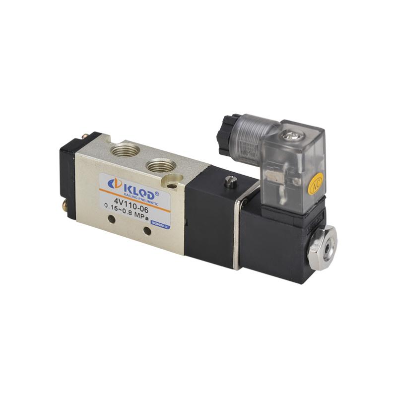 AC110V 4V110-M5 2 Position 5 Way Pneumatic Air Electric Solenoid Valve