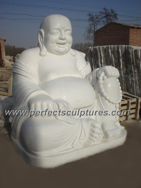 China Life Size Carved Stone Statue Marble Carving Laughing Buddha Sculpture For Home Garden Sy T028 China Buddha And Buddha Statue Price