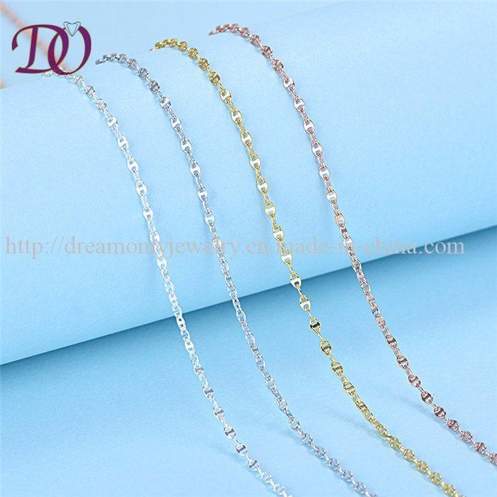 e9d798f28cafa5 China 100% Solid Pure 925 Sterling Silver Necklace Chain Girls New Design -  China Italian 925 Sterling Chains, 925 Sterling Silver Chain Necklace