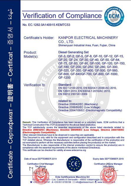 China Kanpor 5 0kw 50Hz 5 5kw 60Hz to Saudi Arabic Silent