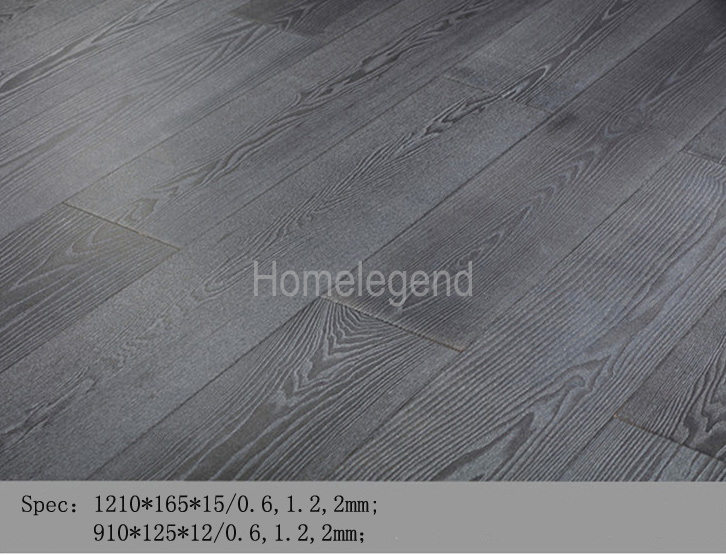China Smooth Surface Gray Color Ash Multi Layer Engineered Wood Flooring