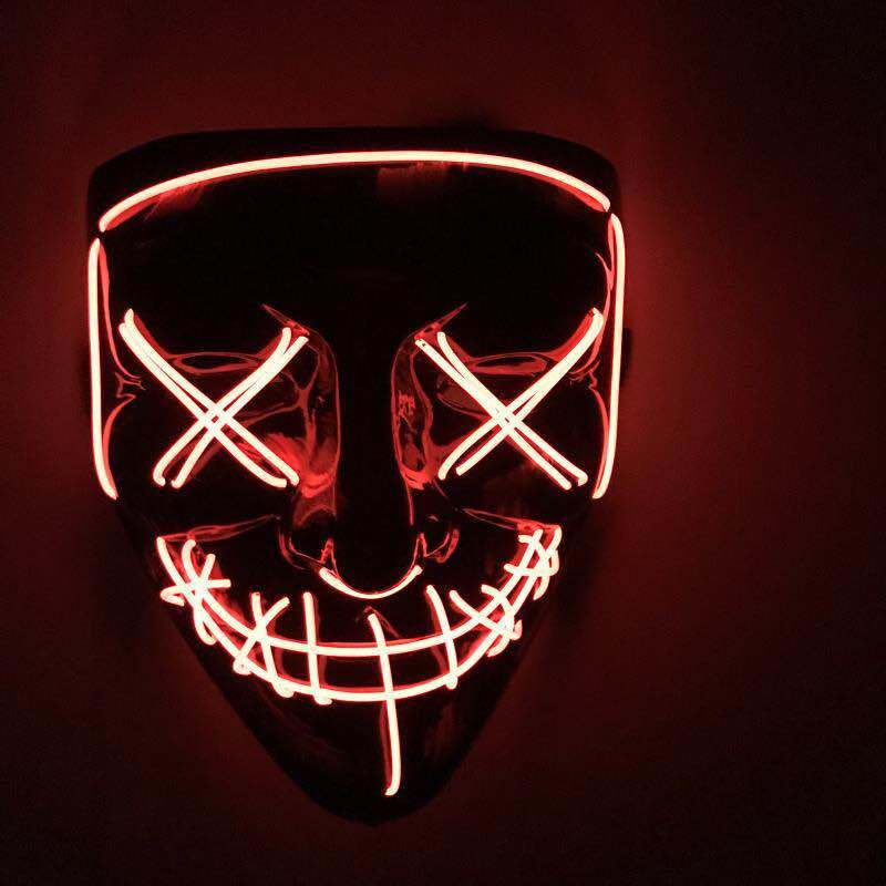 Hot Item New Design El Wire Led Mask Glowing Neon Mask As Festival Carnival Party Halloween