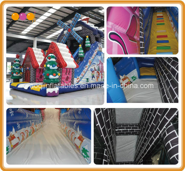 New Design PVC Windmill Inflatable Slide Snowhouse Kid Slide (AQ01810) pictures & photos