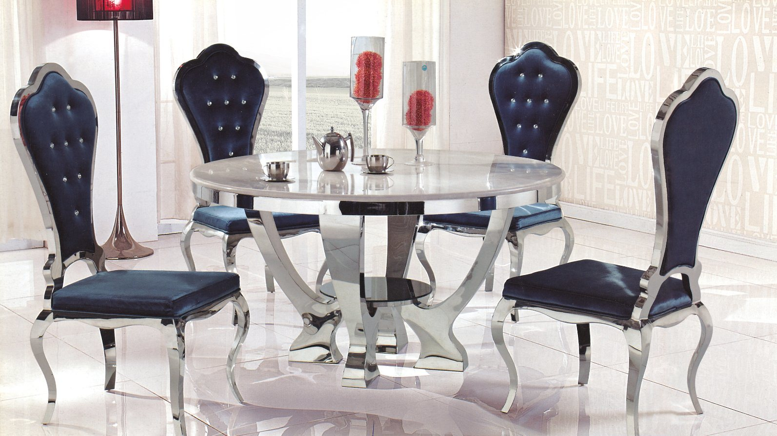China Home Furniture Italian Marble Dining Table Used Dining Room