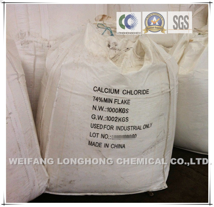 74%-77% Flakes Calcium Chloride / Calcium Chloride Pellets 77% / Snow-Melting Agent / Cement Additive pictures & photos