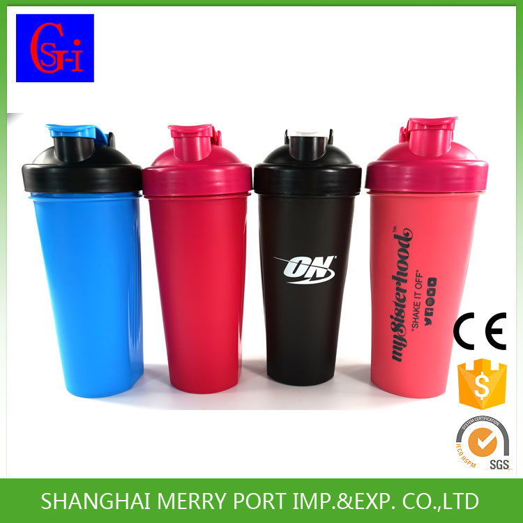 China Promotion And Cheap Plastic Protein Shaker With 9 Colors 22oz