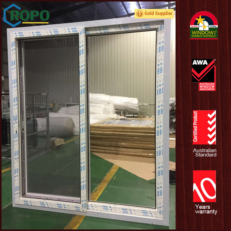 China Pvc Vinyl Double Glazing Soundproof Exterior Glass Sliding