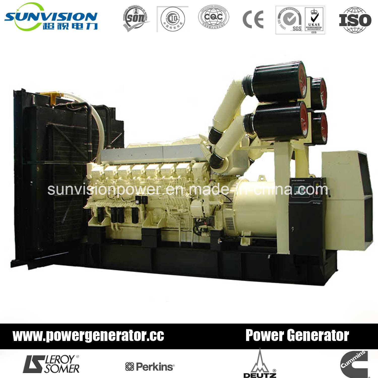 Mitsubishi Generator, Generating Set 1500kVA with Mitsubishi Engine