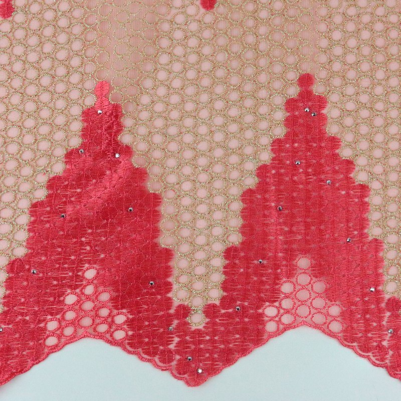 New Design Fashion Chemical Lace Embroidery Fabric