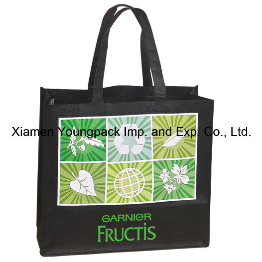 Promotional Custom Printed Eco Friendly Reuable Black Non Woven  Polypropylene Tote Bag 79d8da1d15e4b