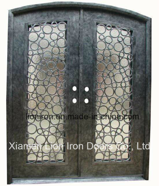 Decorative Wrought Iron Front Doors With Flemish Glass