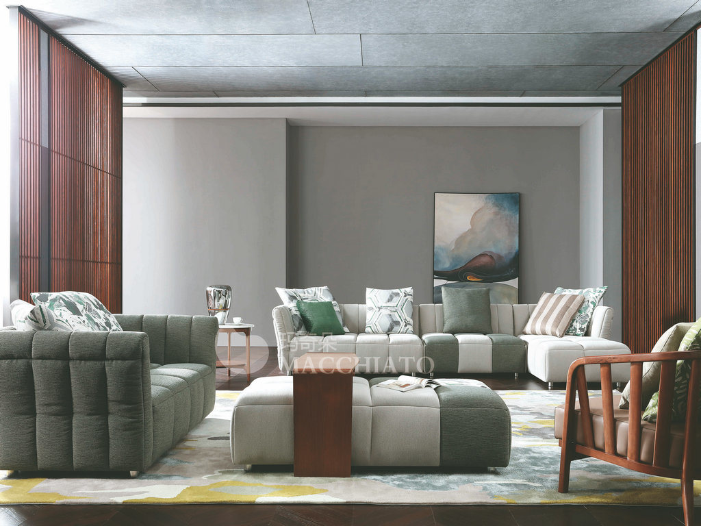 New design modern italian corner home furniture zhida