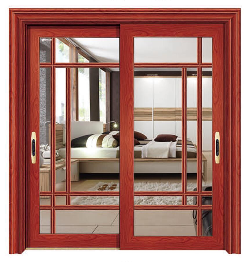 China Aluminium Sliding Interior Door With Double Tempered Glazing