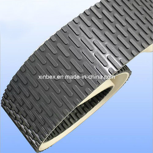 Black PVC Capsule Stud Patter Conveyor Belt for Stone/Polishing Machine pictures & photos