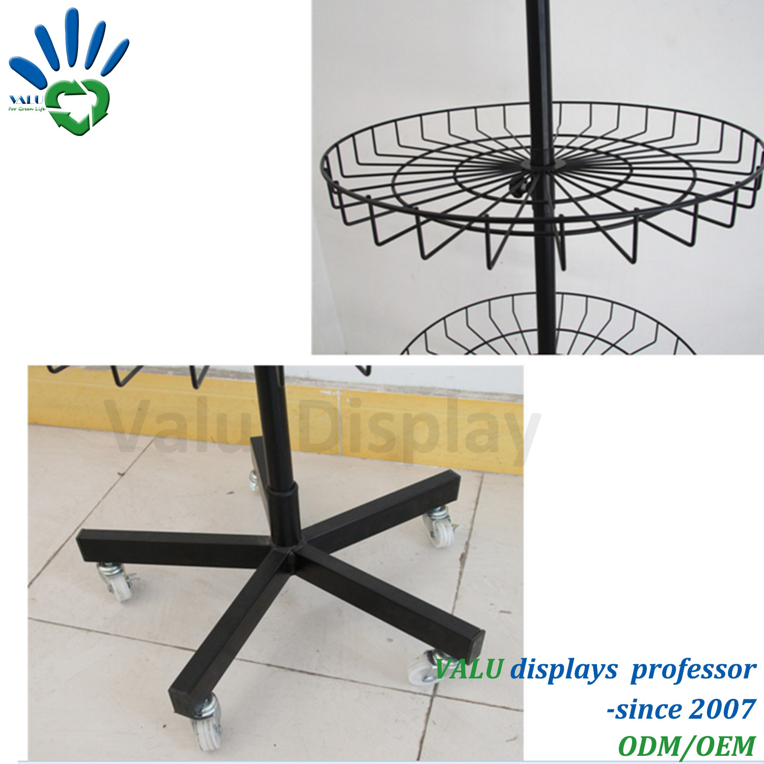 China Floor 4-Tier Rotating Metal Wire Toy Display Stand Spinning ...