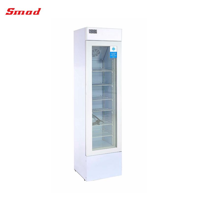 China 105l Glass Door Vertical Display Ice Cream Freezer For Shop