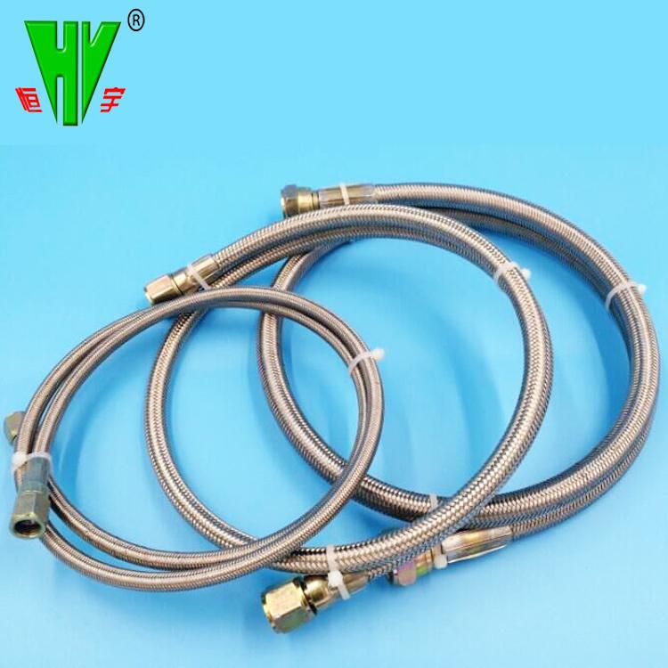 China SAE100 R14 Teflon Stainless Steel Braided Corrugated Hoses ...