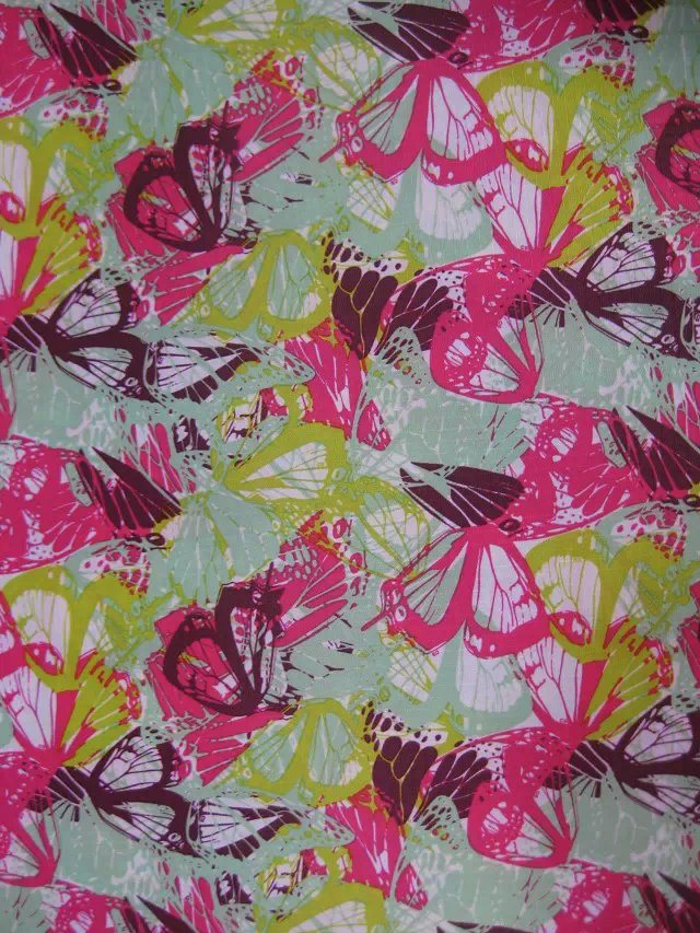 Oxford 600d High Density PVC/PU Butterfly Printing Polyester Fabric pictures & photos