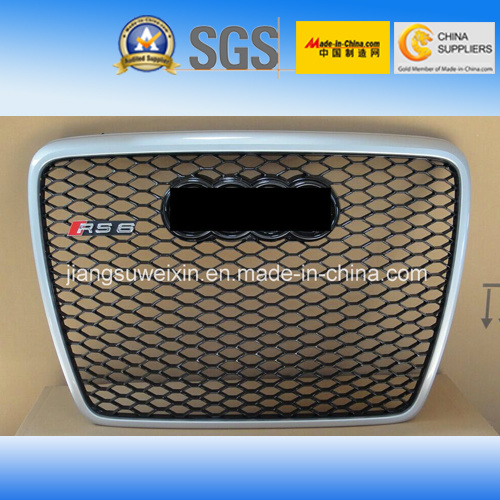China Silver Car Front Grill Grille Black Logo For Audi Rs6 2005