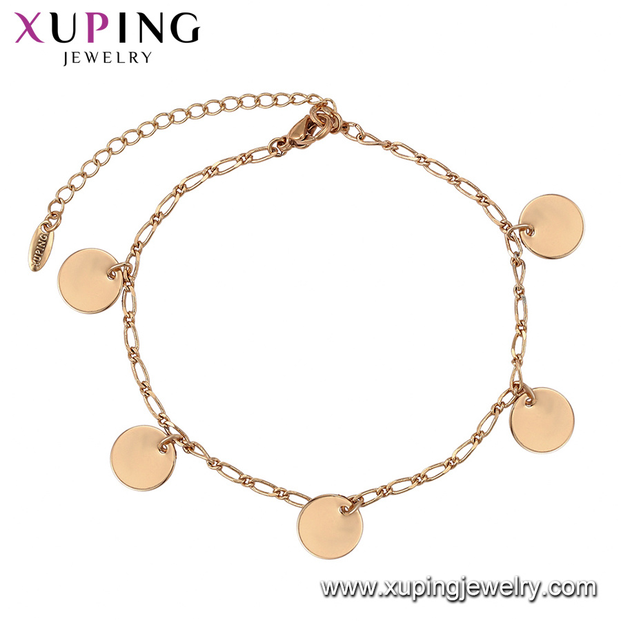 [Hot Item] Jewelry Women Elegant 18K Gold Color Lead and Nickel Chain  Bracelet Dubai Gold Jewelry