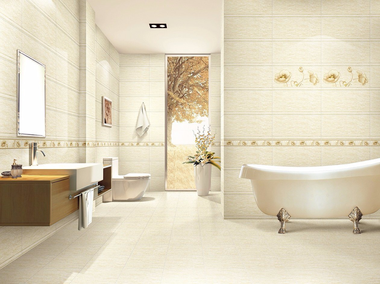 China Building Material Yellow Marble Ceramic Floor And Wall Tile