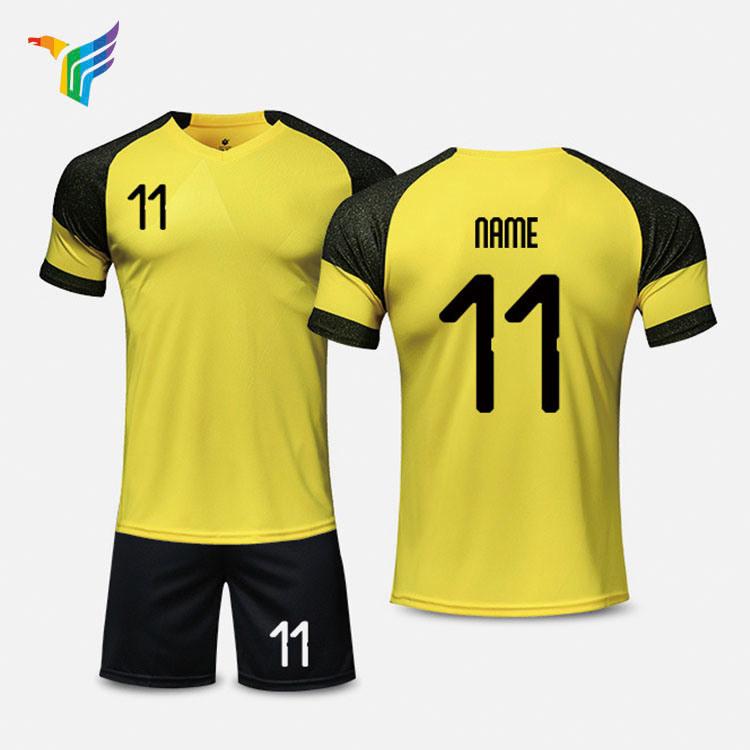 f4fa85061c6 China National Team Black Orange Guangzhou Men Kids Futsal Cheap No Logo Custom  Soccer Jersey Wear Shirts Uniforms - China Soccer Jerseys