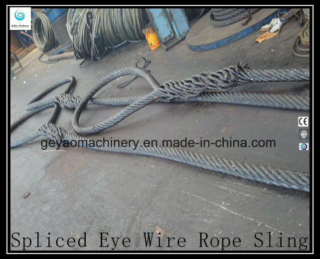 China Ungalvanized Hand Spliced Heavy Duty Steel Wire Rope Sling ...