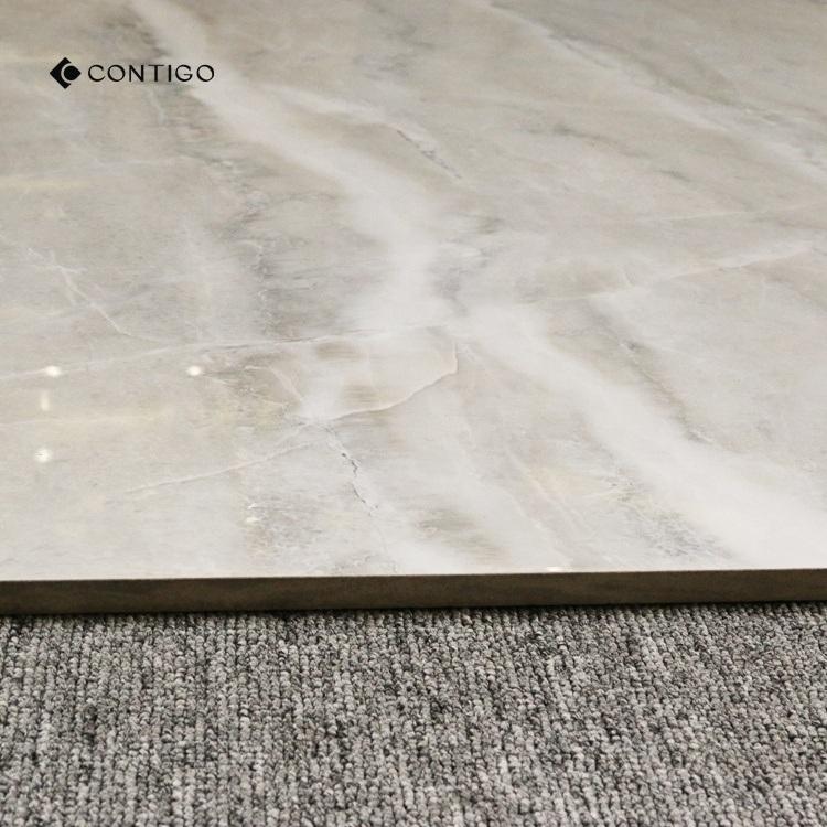 China Grey Polished Porcelain Floor Tiles 80x80 Price Ceramic