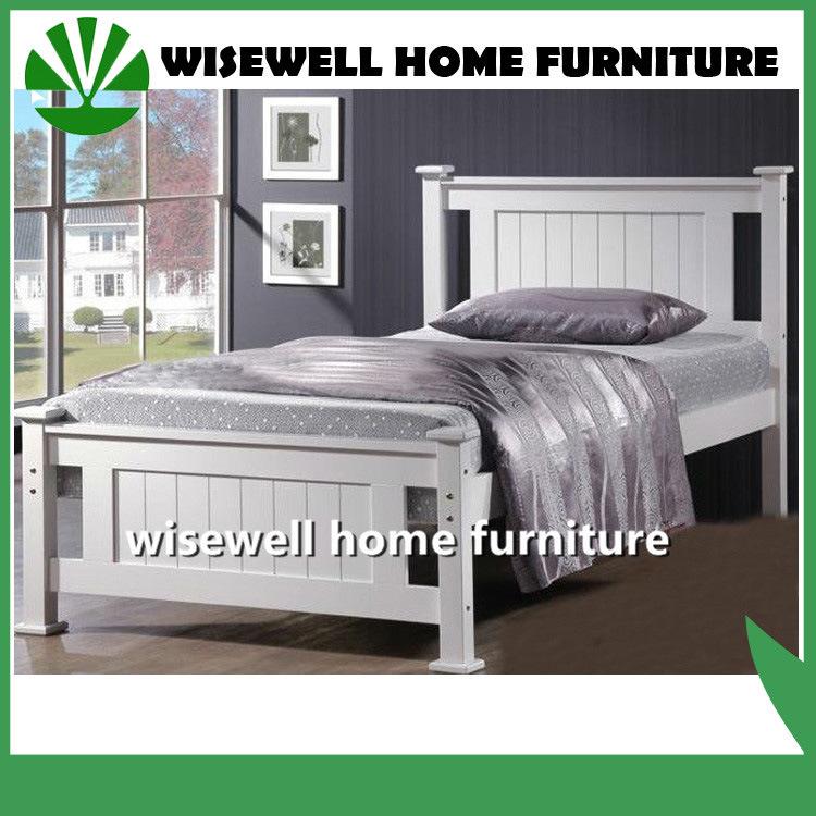 [Hot Item] Solid Pine Single Modern Wood Bedroom Furniture (W-B-0092)