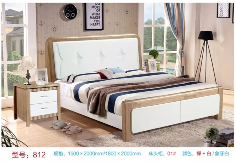 China Queen Size Modern Solid Wood, Solid Wood Queen Bed