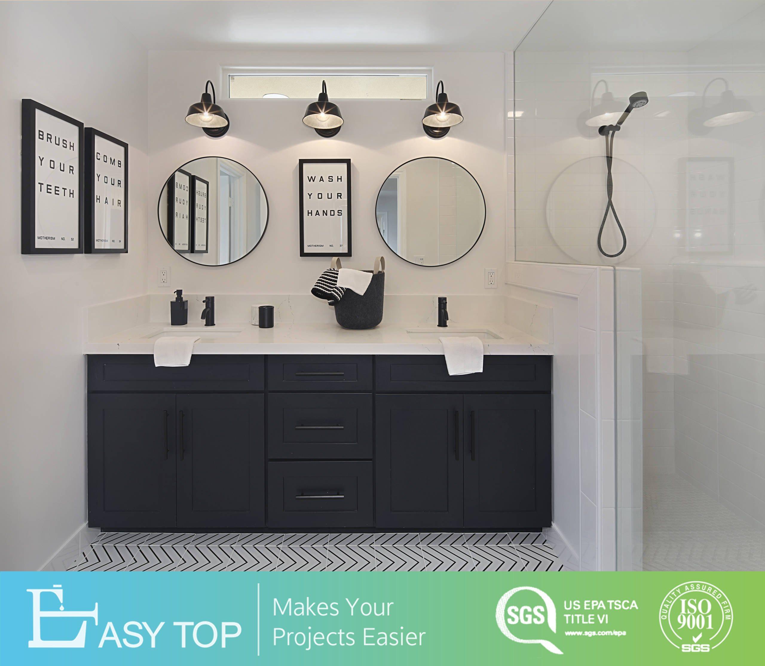 Modern Double Sink Bathroom Vanity Floor Mounted Black Pvc Shaker Door Bathroom Cabinets China Bathroom Vanity Philippines Bathroom Cabinet Philippines Basin Made In China Com