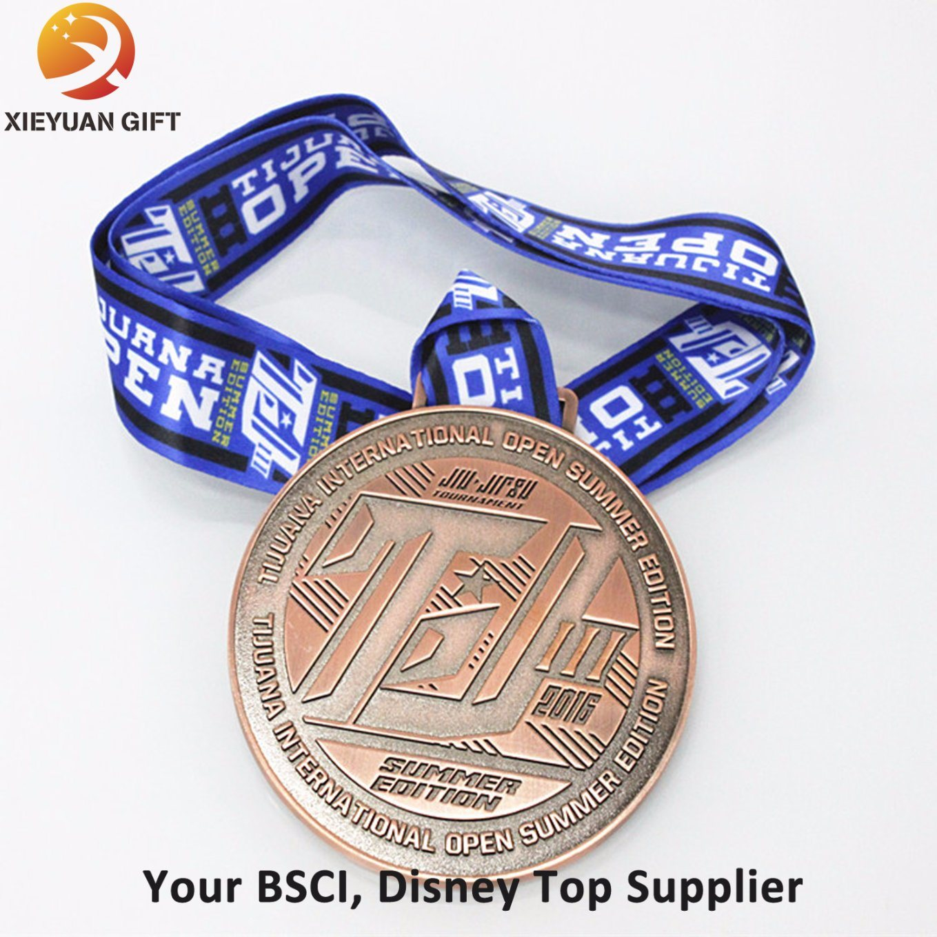 [Hot Item] Custom Cheap 3D Engraved Gold Medal with Inner Cut out