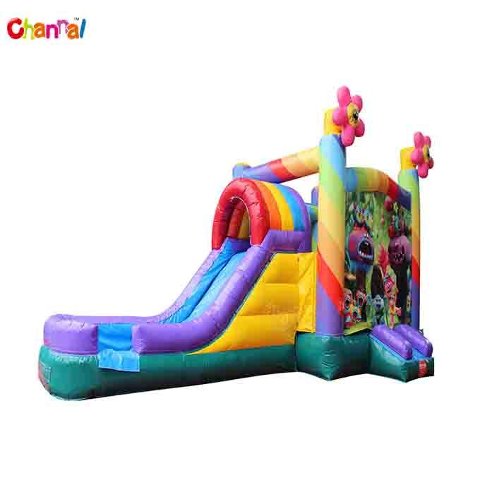 China Trolls Water Slide Bounce House Inflatable Jumping Castle Combo For Kids China Inflatable Jumping Castle Combo For Kids And Trolls Water Slide Bounce House Price