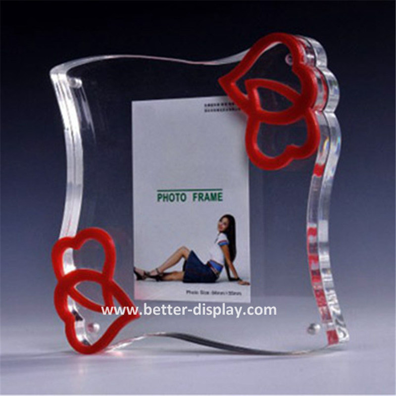 China Cleap Clear A4 Plastic L Shaped Poster Frame Photos Pictures