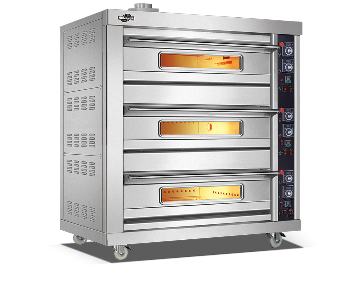 China 3 Layer 6 Tray Stainless Steel Gas Bread Bakery Oven - China Oven, Gas Oven