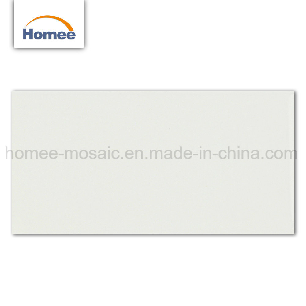 China Foshan Cheap Solid White Ceramic Subway Wall Mosaic Tile
