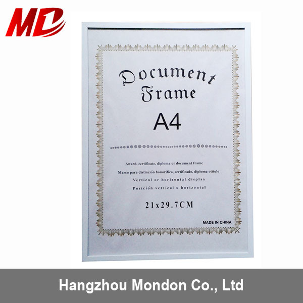 China PS Froam A4 Certificate Frames China Wholesale Certificate