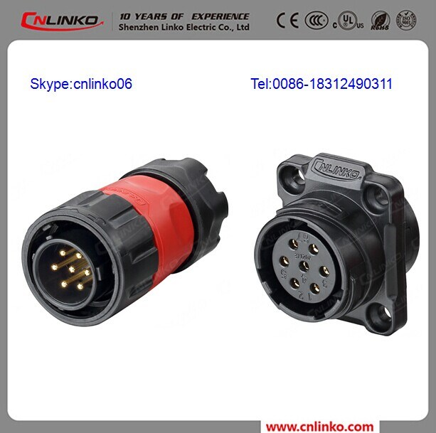 China IP65 7 Pin Power Connector/7pin Connector Porcelain Connector ...
