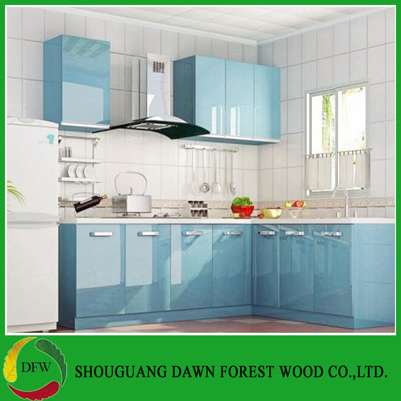 [Hot Item] Modern Design High Glossy Lacquer Plywood Material Kitchen  Cabinets