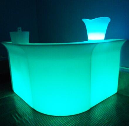 China Illuminated Flashing Lighted Bar Table Colorful Plastic LED Bar  Counter   China LED Counter, LED Furniture