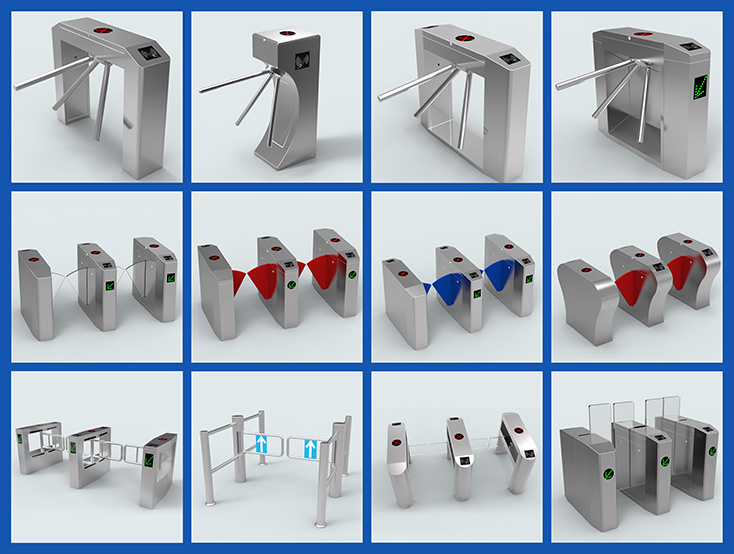 Swing Gate Barrier Turnstile with Access Control System